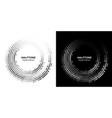 halftone circle dots frame circle dots logo vector image vector image