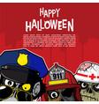 halloween background - urban zombie vector image vector image