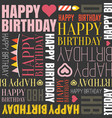 happy birthday alphabet headline vector image vector image