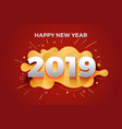 happy new year 2019 abstract paper cut greeting vector image vector image