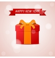 Happy new year abstract gift vector image