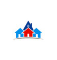 house realty logo vector image vector image