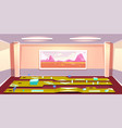 indoors mini golf club interior cartoon vector image