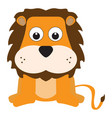 isolated stuffed lion toy vector image vector image