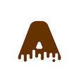 letter a chocolate font sweetness alphabet liquid vector image vector image