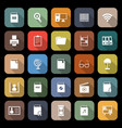 library flat icons with long shadow vector image vector image
