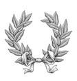 line art laurel wreath vector image vector image
