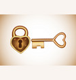 lock and key in flat style padlock with key vector image vector image