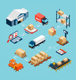 logistics isometric flowchart vector image