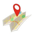 Map cartoon icon vector image vector image