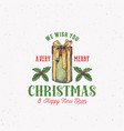 merry christmas abstract retro label sign vector image