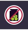 No Ban Stop sign Halloween eye glass jar icon vector image vector image