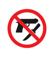 no weapons allowed sign red ban signs images vector image