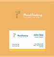paint roller logo design with business card vector image