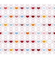Pattern with repeating hearts vector image