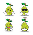 pear character cartoon of set vector image vector image