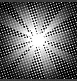 retro rays comic black white background vector image vector image