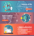science of life biology astronomy study of vector image vector image