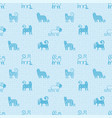 seamless pattern with cute funny cats textile vector image