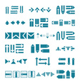 set of different pointers arrows vector image