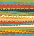 Set of seamless stitch brushes vector image vector image