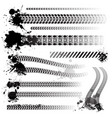 set tire tracks vector image