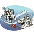 Skelefish vector image vector image