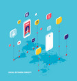 social network and technology concept global vector image vector image
