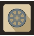 Sprocket from bike icon flat style vector image vector image