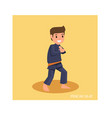 strong man with martial art pose are ready to vector image vector image