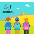student bag backpack colorful set icons vector image