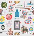 target icon arrow in aim dartboard vector image vector image
