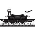 taxi service to and from airport vector image vector image