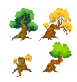 Trees clip art isolated vector image vector image
