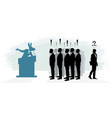 trusting people silhouettes vector image vector image