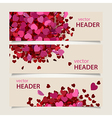 valentine headers set vector image vector image