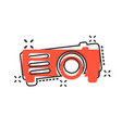 video projector sign icon in comic style cinema vector image