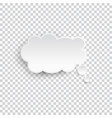 white blank speech bubble isolated vector image vector image