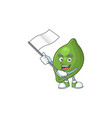 with flag fresh lime cartoon character for cuisine vector image vector image