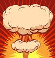 Comic book explosion element vector image
