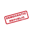 Democratic Republic Rubber Stamp vector image