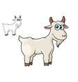 Cartoon horned farm goat vector image
