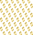 Seamless pattern with shimmering Golden dollar sig vector image