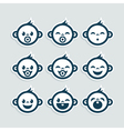 Cute Baby Boy Icons vector image