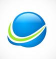 globe sphere finance abstract arrow logo vector image