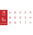 15 businessman icons vector image vector image