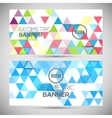 Abstract banners 3D triangles geometric background vector image vector image