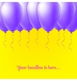 Abstract Creative concept balloon isolated vector image