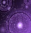 Abstract dark purple technology futuristic vector image vector image