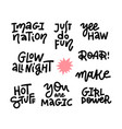 abstract quote lettering set with motivational vector image